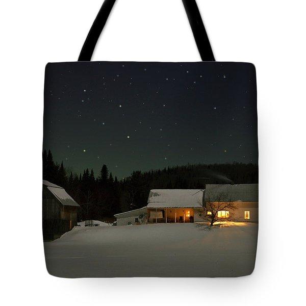 Winter Farmhouse Tote Bag