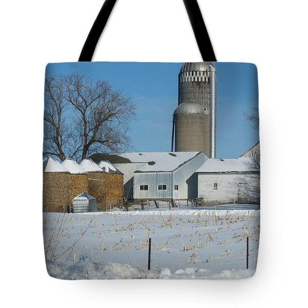 Winter Feed Tote Bag