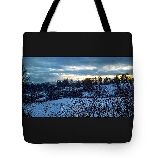 Winter Fields Tote Bag