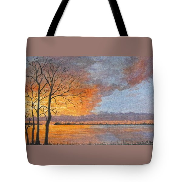 Winter Fire Tote Bag by Lynn ACourt