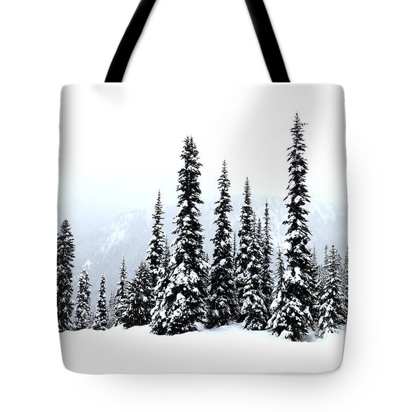 Winter Firs Tote Bag by Tanya Searcy