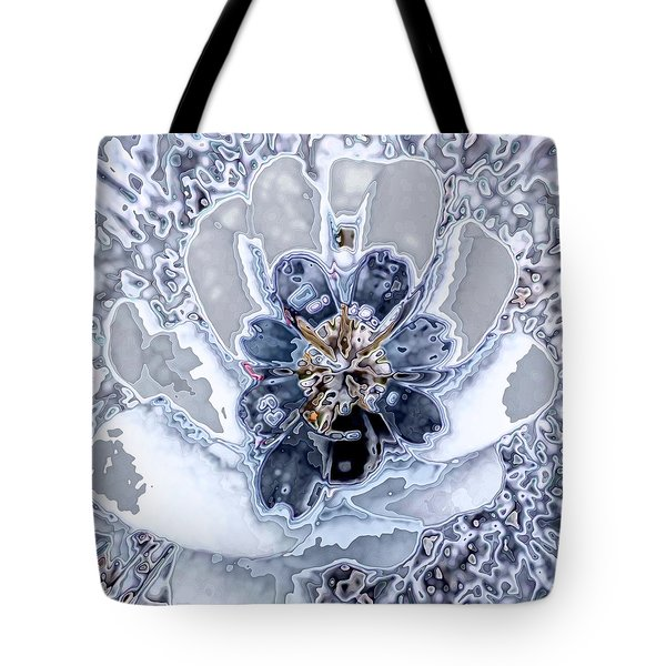 Winter Flower 2 Tote Bag by Ron Bissett