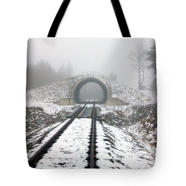 Tote Bag featuring the photograph Winter Fog by Jason Girard