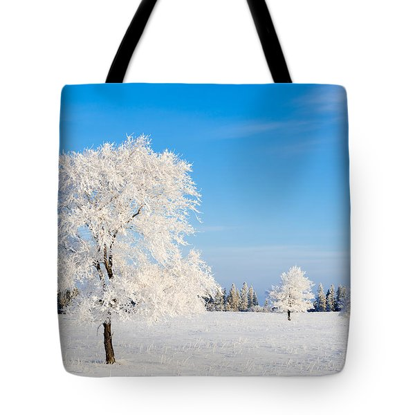Winter Frostland Tote Bag