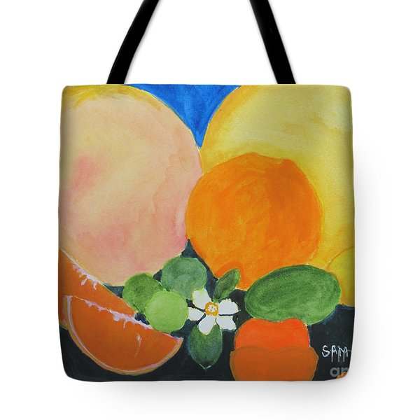 Winter Fruit Tote Bag by Sandy McIntire