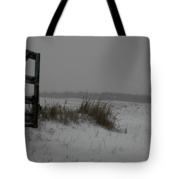 Tote Bag featuring the photograph Winter Gate by Dylan Punke