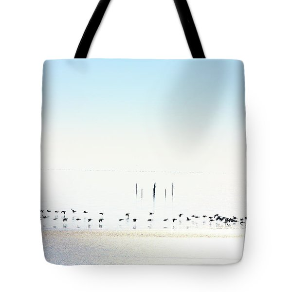 Winter Geese Frozen Ice Tote Bag