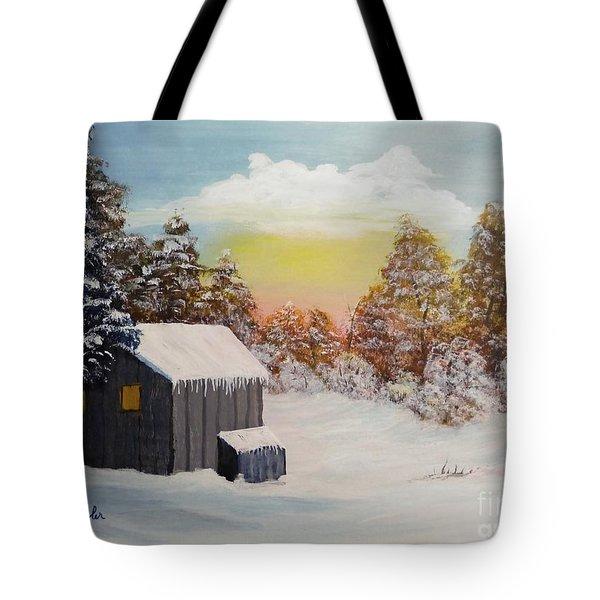 Winter Getaway Tote Bag