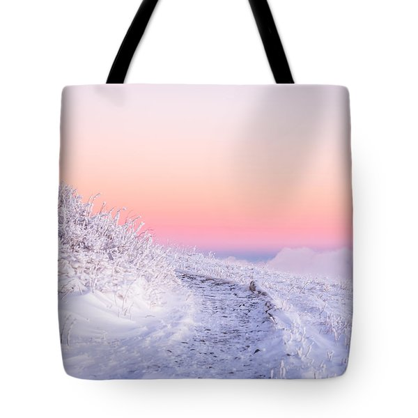 Tote Bag featuring the photograph Winter Glow On Roan Mountain by Serge Skiba