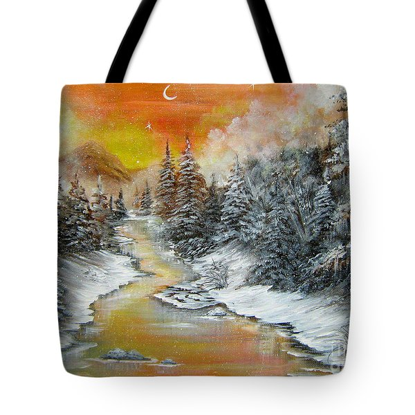 Another Cold And Windy Day  Tote Bag