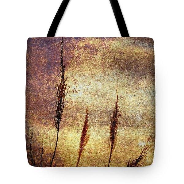 Winter Gold Tote Bag by Skip Nall