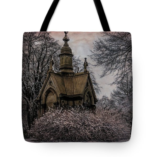 Tote Bag featuring the digital art Winter Gothik by Chris Lord