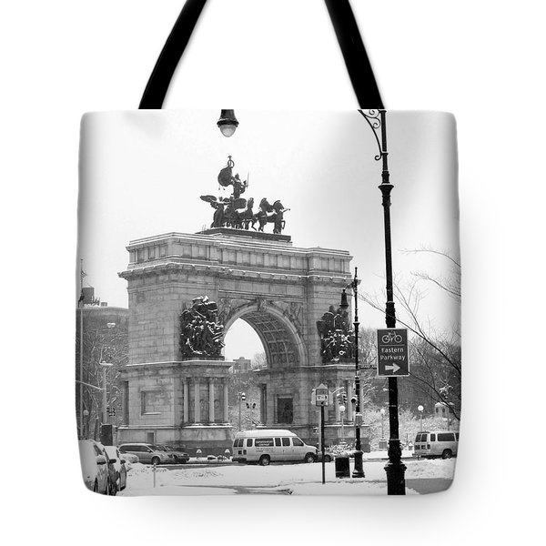 Winter Grand Army Plaza Tote Bag