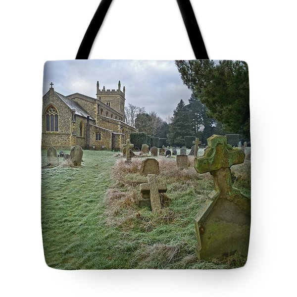 Winter Graveyard Tote Bag by Anne Kotan