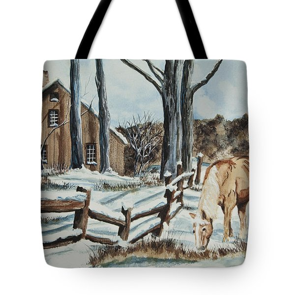 Winter Grazing  Tote Bag by Charlotte Blanchard