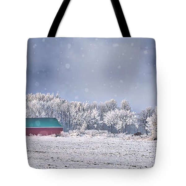 Winter Grey County Tote Bag