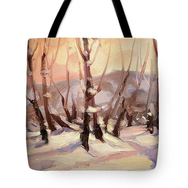 Winter Grove Tote Bag