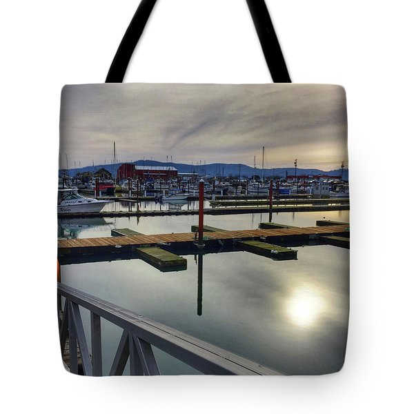 Winter Harbor Tote Bag