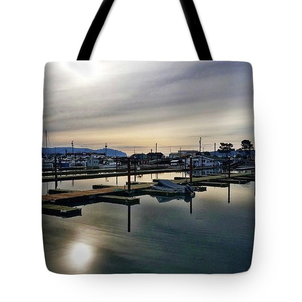 Winter Harbor Revisited #mobilephotography Tote Bag