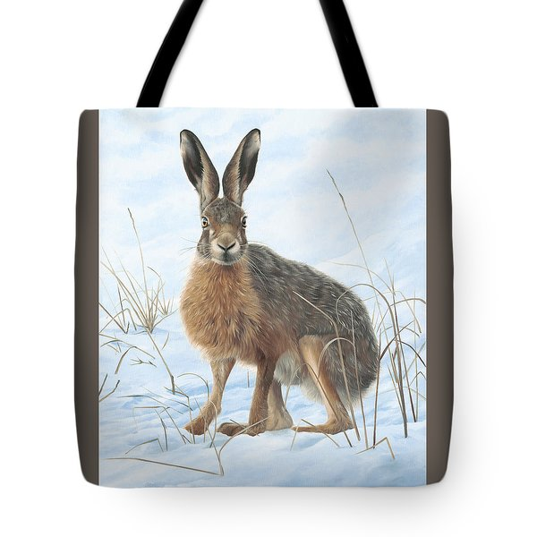 Winter Hare Tote Bag by Clive Meredith