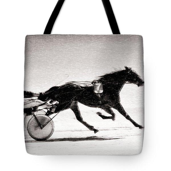 Winter Harness Racing Tote Bag