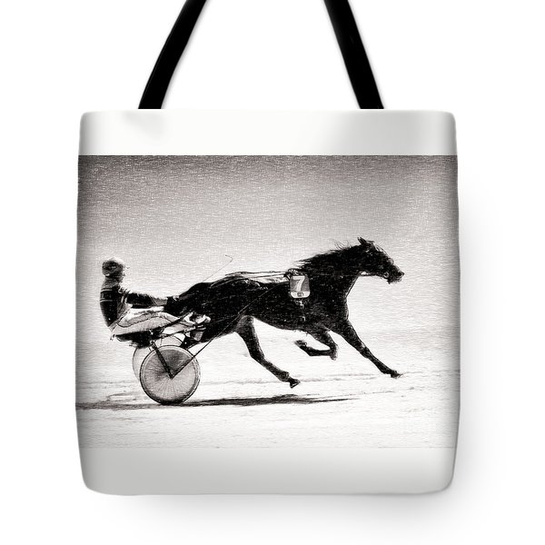 Winter Harness Racing Tote Bag