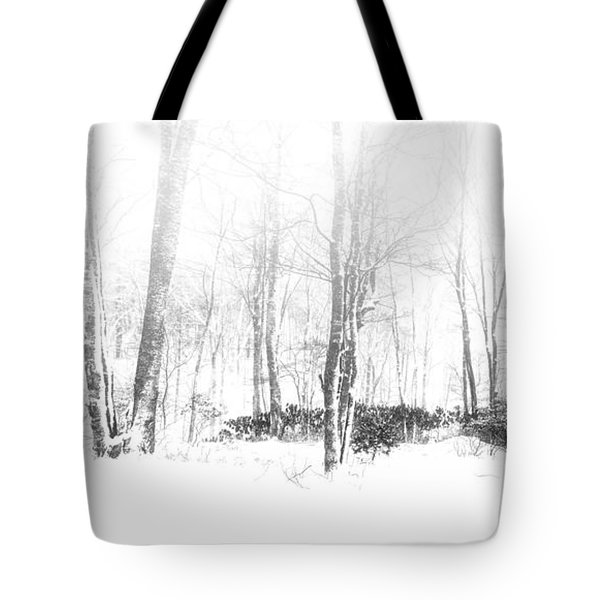 Snowy Forest - North Carolina Tote Bag