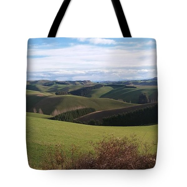 Winter Hills Tote Bag