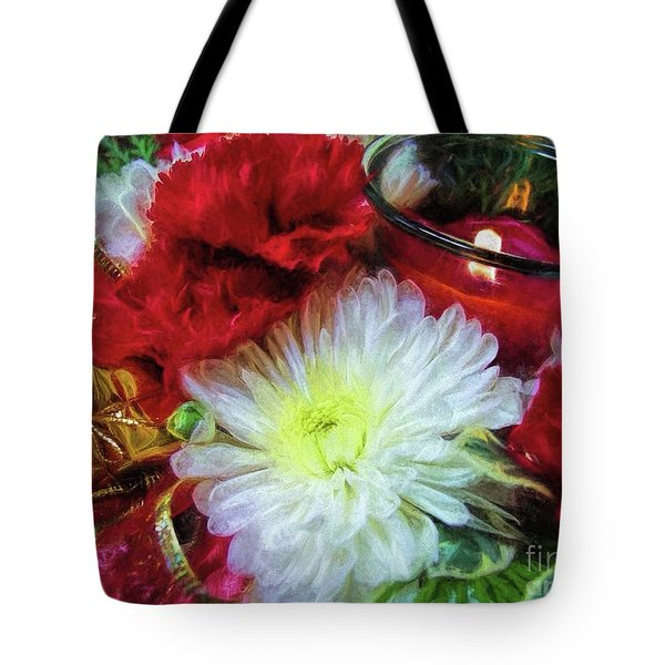 Tote Bag featuring the photograph Winter Holiday  by Peggy Hughes