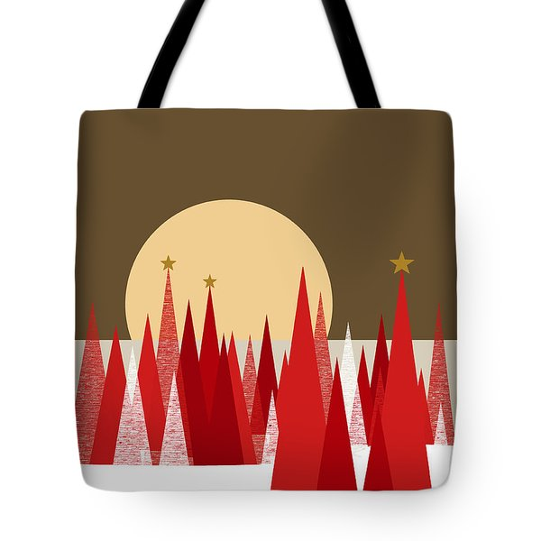 Winter Holiday Stars Tote Bag by Val Arie