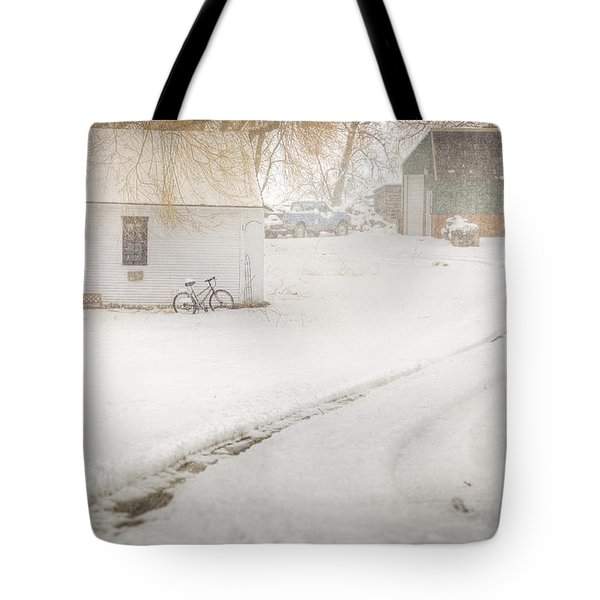 Winter Home Road Tote Bag