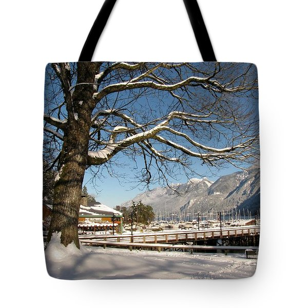Winter Horseshoe Tote Bag