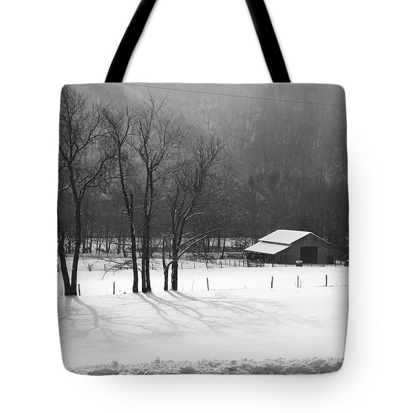 Tote Bag featuring the photograph Winter In Boxley Valley by Michael Dougherty