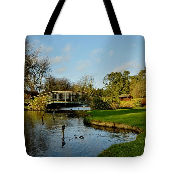 Winter In Burnby Hall Gardens Tote Bag