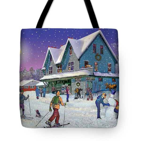 Winter In Campton Village Tote Bag