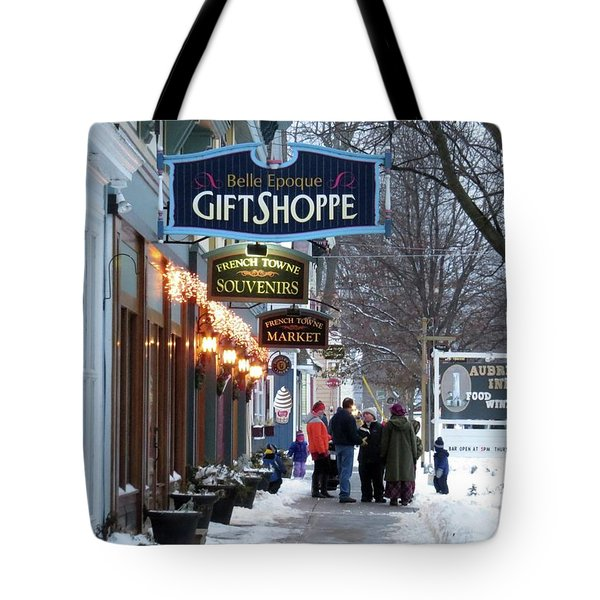 Winter In Cape Vincent Tote Bag