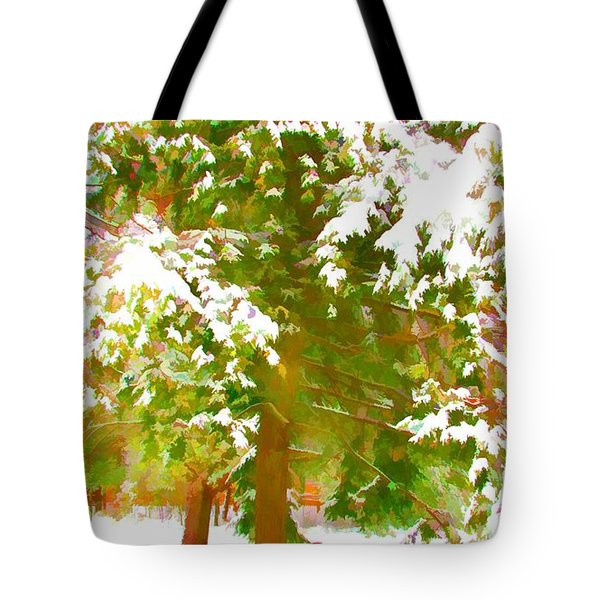 Winter In  Catskills Tote Bag by Lanjee Chee
