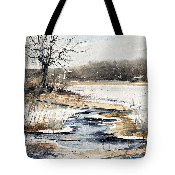 Winter In Caz Tote Bag by Judith Levins