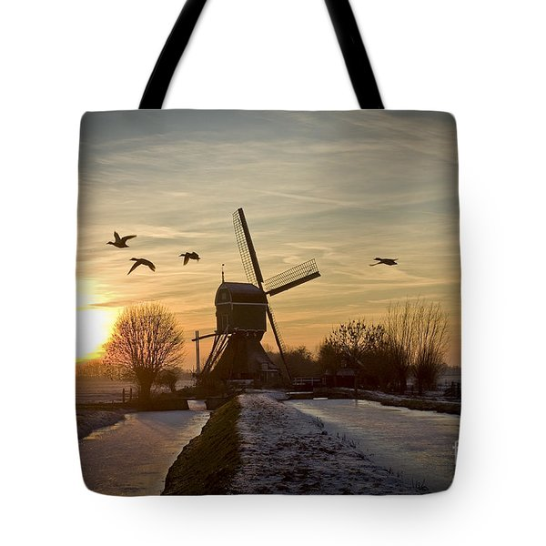 Winter In Holland-2 Tote Bag