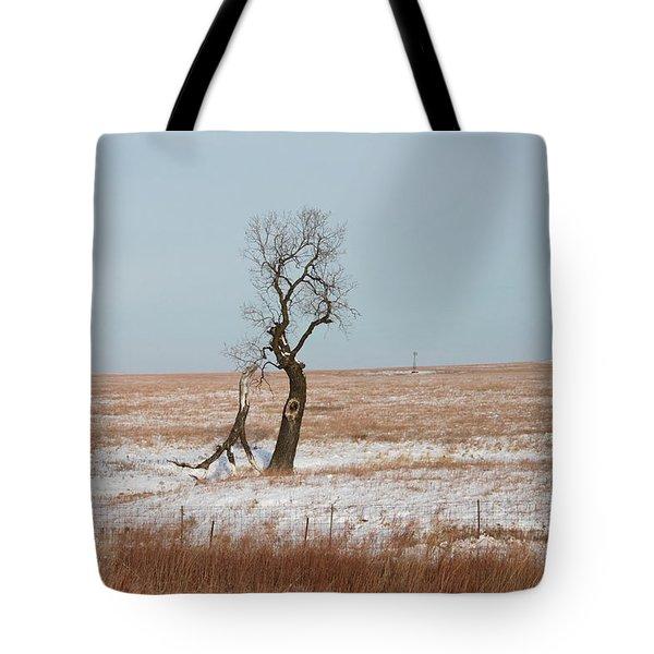 Winter In Kansas Tote Bag