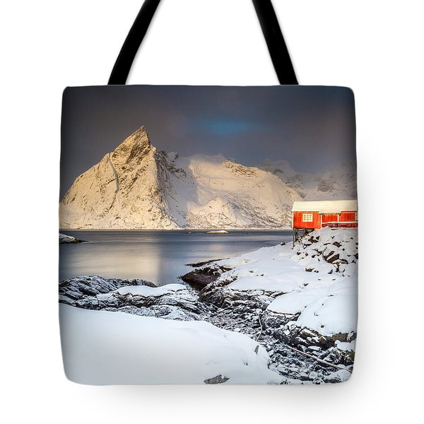 Winter In Lofoten Tote Bag