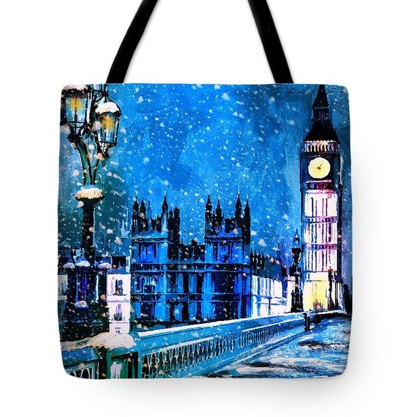 Winter In London  Tote Bag