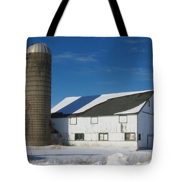 Winter  In Mchenry County Tote Bag