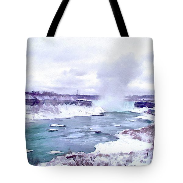 Winter In Niagara 1 Tote Bag