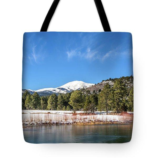 Winter In Ruidoso Tote Bag