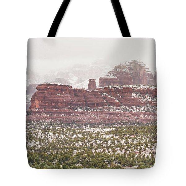 Winter In Sedona Tote Bag