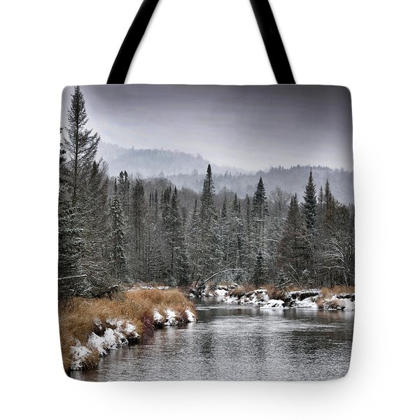 Tote Bag featuring the photograph Winter In The Adirondack Mountains - New York by Brendan Reals