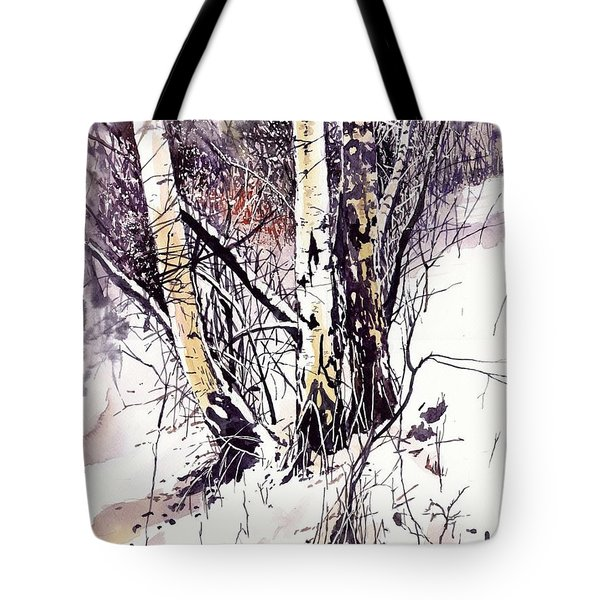 Winter In The Forest Tote Bag
