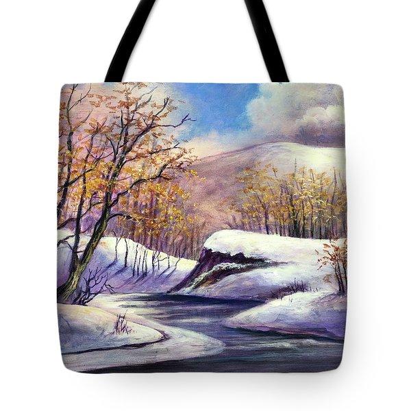 Winter In The Garden Of Eden Tote Bag by Randy Burns