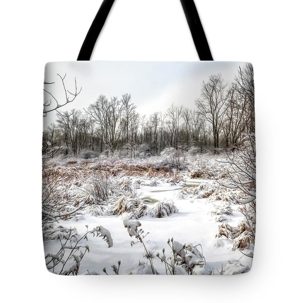 Winter In The Marsh Tote Bag